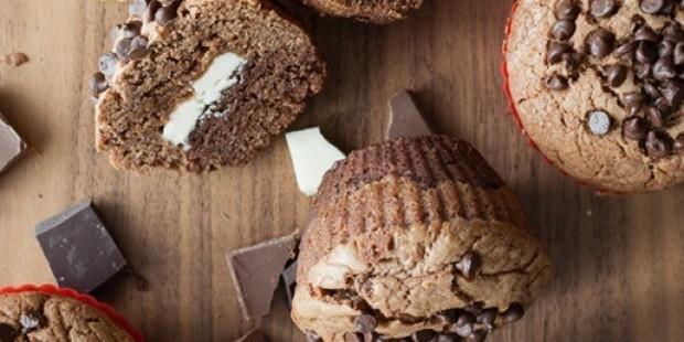 Muffin ai tre cioccolati