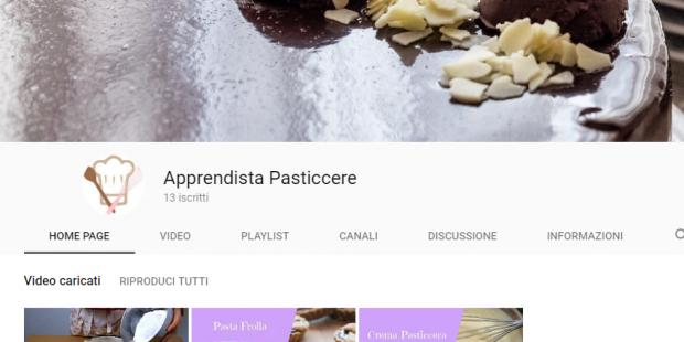 È attivo il canale di YouTube di ApprendistaPasticcere